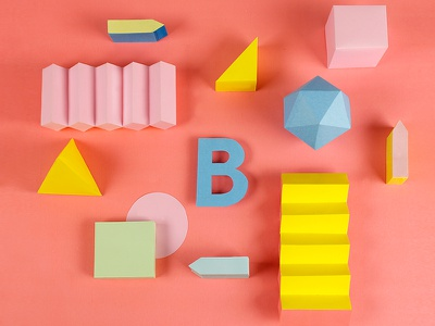 """B for """"36 Days of Type"""" project design color colour papercraft setdesign 36daysoftype type"""
