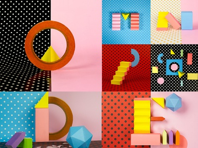 Papercraft Letters for the '36 Days of Type' project. letter 36 days of type craft type color set design paper craft setdesign papercraft