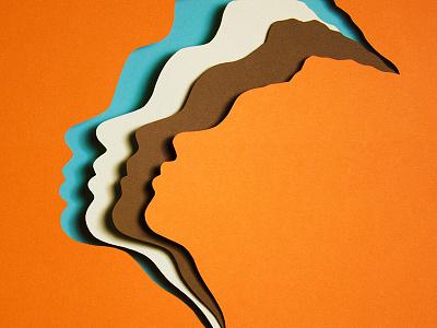 The Ladies' Faces vasty face women paper craft