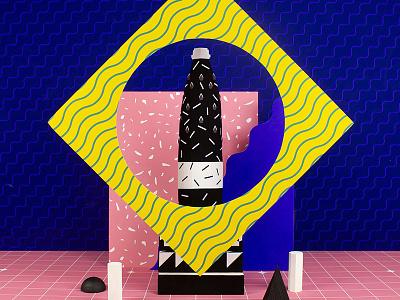 S.Bernardo Art Series 1/6 illustration square graphic memphis acqua pattern geometric design abstract colorful color still life set design tactile design