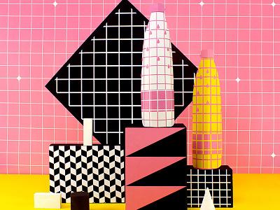 S.Bernardo Art Series 2/6 pattern tactile design stillife tactile setdesign colorful design color