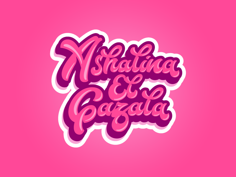 Ashalina El Gazala fatamorkidd typography typeface challygraphy handlettering