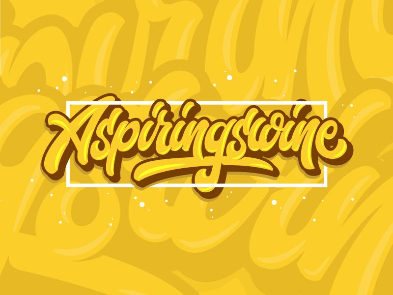 Aspiringswine fatamorkidd typography typeface challygraphy handlettering