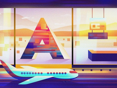 A for Airport inspire motivate motivation inspiration idea aeroplane airplane airport graphics design artist vector digital art logo graphic design art art direction design illustration artwork