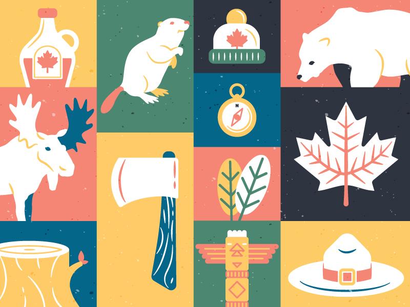 Download Canadian illustrations freebie