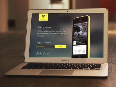 Movieo App Site Concept