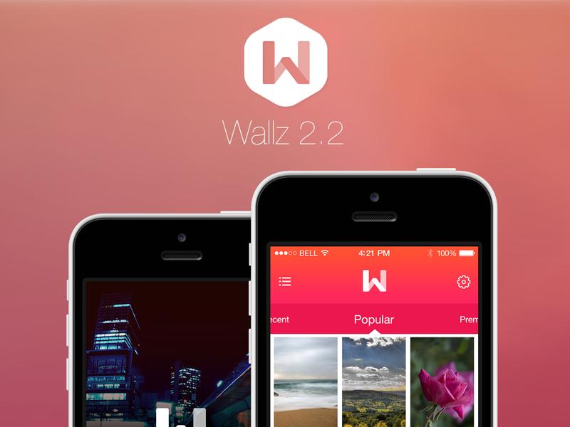 Wallz 2.2 Wallpaper App wallpaper iphone app wallz wallpapers ios 7 iphone modern app landing page