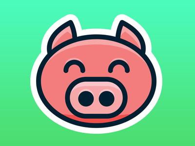 PigPal logo concept design logo app ios