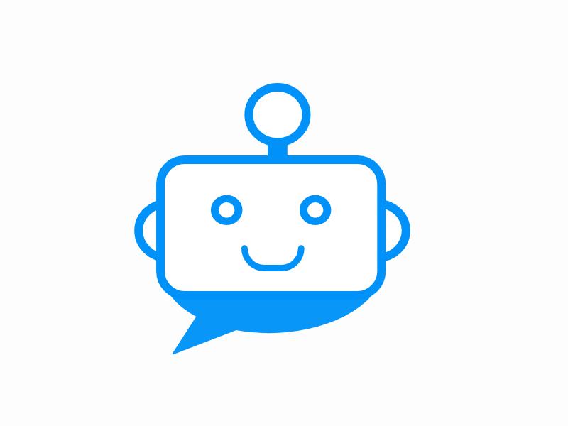 Chatbot Concept chatbot chat bot logo chat bot icon chat bot