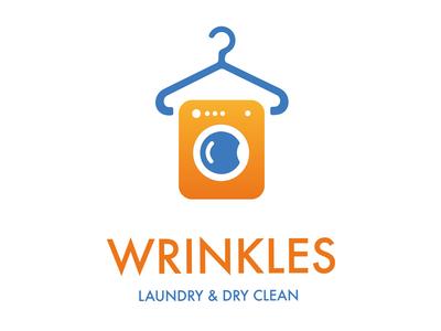 Dry Cleaning Logo Design orange blue logo laundry logo dry cleaning logo design