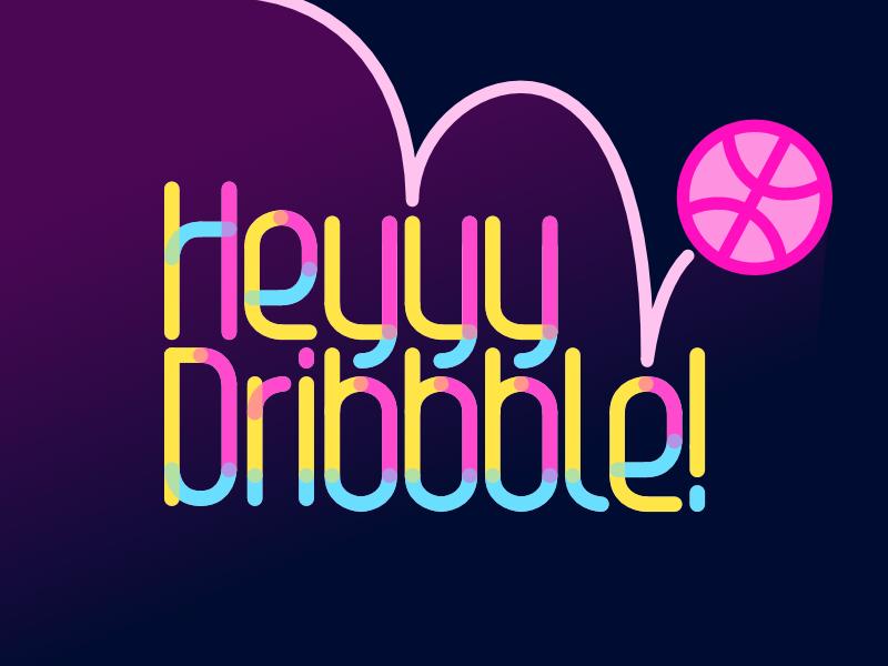 Dribbble Debut debut lettering custom type typography type