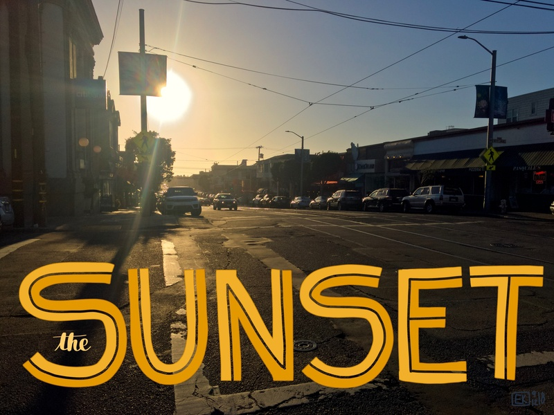 The Sunset daily art handlettering photography typography lettering