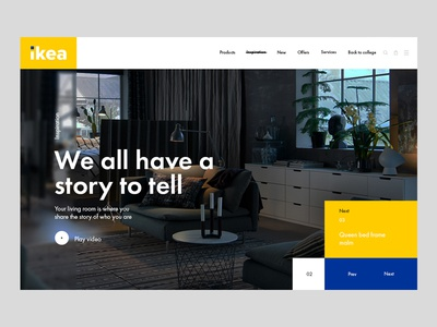 Redesign of the Ikea website