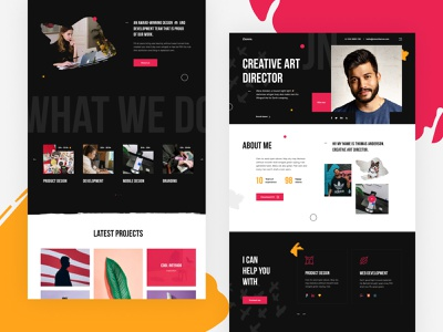 Ziomm - Creative & Modern Portfolio WordPress Theme clean design wordpress website landing bright colorful modern creative studio portfolio agency theme