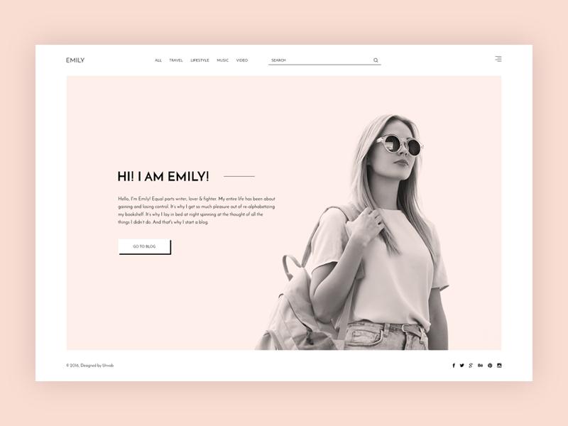 Emily - Minimal Creative Blog creative minimal personal blog