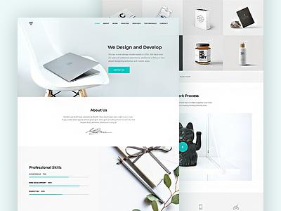 Free PSD Portfolio Template free psd elegant modern creative minimal psd free portfolio