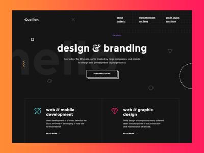 Creative Design & Branding Agency corporate business portfolio studio agency bright modern creative