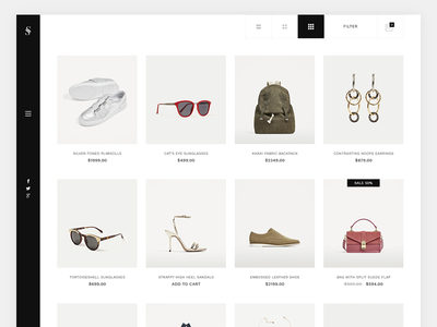E-commerce Minimal Design creative modern clean template minimal design e-commerce store shop
