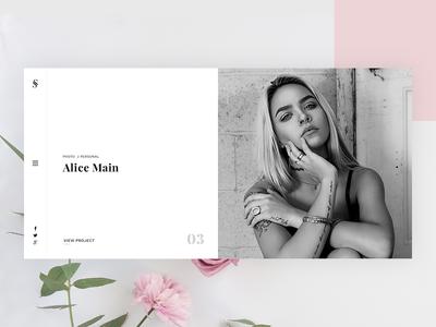 Portfolio Design Concept ui ux modern clean personal minimal website design portfolio