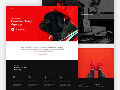 Skylith — Free PSD Landing Page psd portfolio modern minimal free psd free elegant creative
