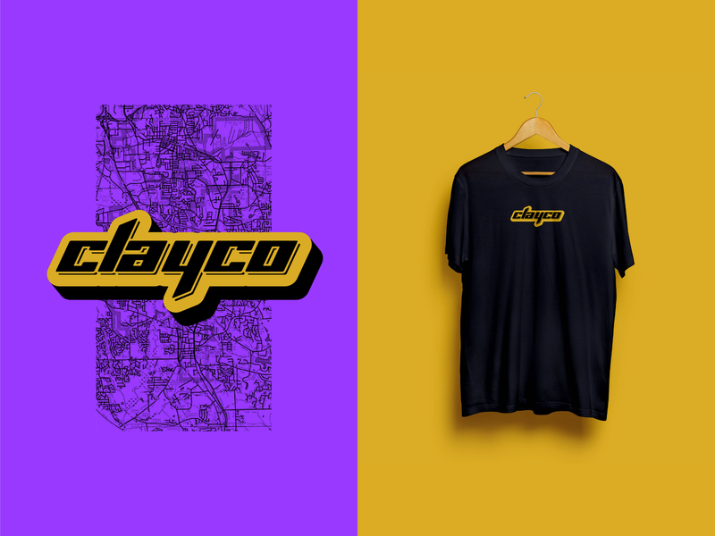 Clayco Tee logo graphics inspiration streetwear branding design clayton county clayco atlanta georgia