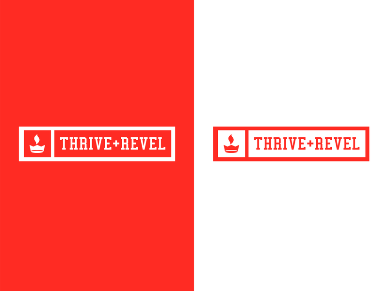 Thrive & Revel Logo atlanta graphics design marathon sportswear sports athletic streetwear red fire flame crown inspiration graphic design logo branding redesign