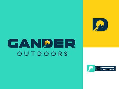 Gander Outdoors Branding rebrand design branding logo