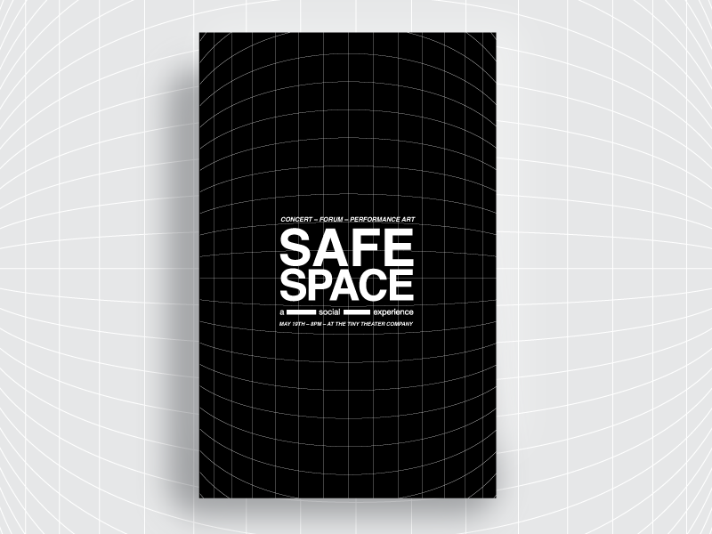 Safe Space Poster Series / #5 elev8ed helvetica type atlanta music vector design inspiration color palette poster