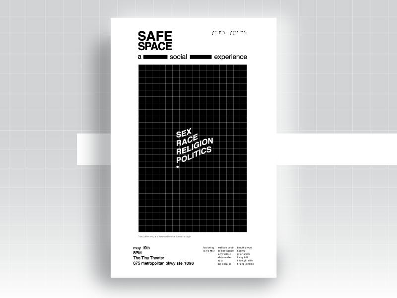 Safe Space Poster Series / #4 helvetica type atlanta music vector design inspiration color palette poster