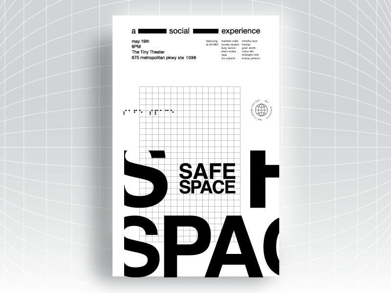 Safe Space Poster Series / #2 elev8ed helvetica type atlanta music vector design inspiration color palette poster