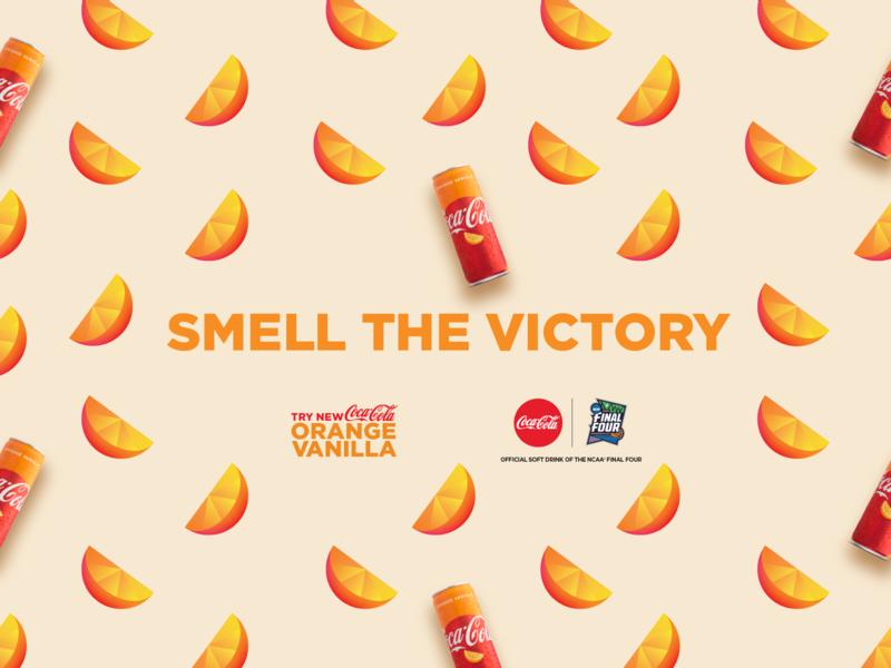 Coke Orange Vanilla at NCAA Final Four coca-cola final four basketball color palette inspiration branding graphics vector design