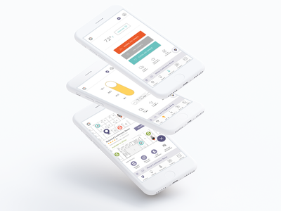 Comfy User Interface map timer mobile app toggle lighting temperature iot visual design ui