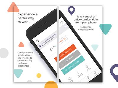Comfy App Store Screens app iot visual design ui
