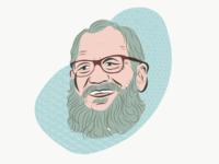 Letterman and that Beard Game beard letterman illustration