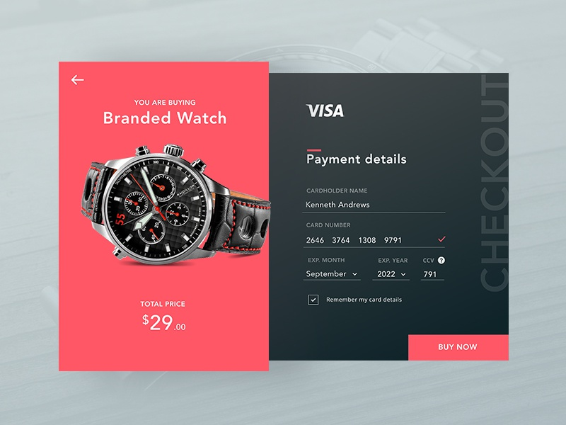 Daily UI #002 Credit card checkout credit card payment card buy ui checkout dailyui daily 002