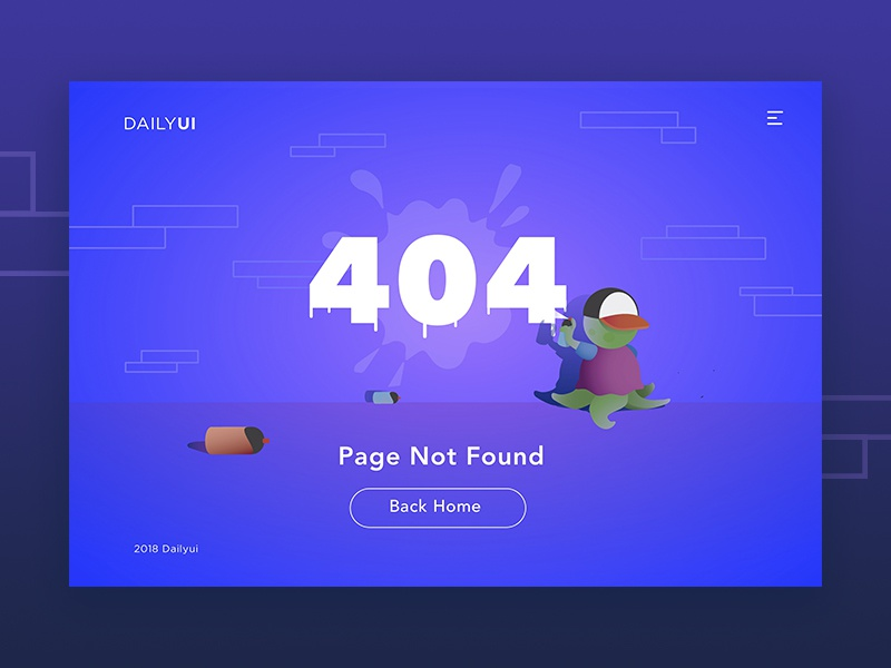 Daily UI #008 404 Page web challenge 404 page 008 404 illustration ui dailyui daily