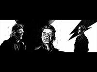 David Bowie triptych