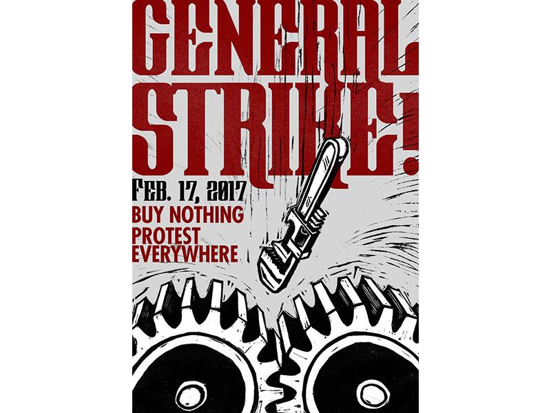 General strike dribbble