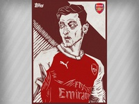 Mesut Özil card illustration