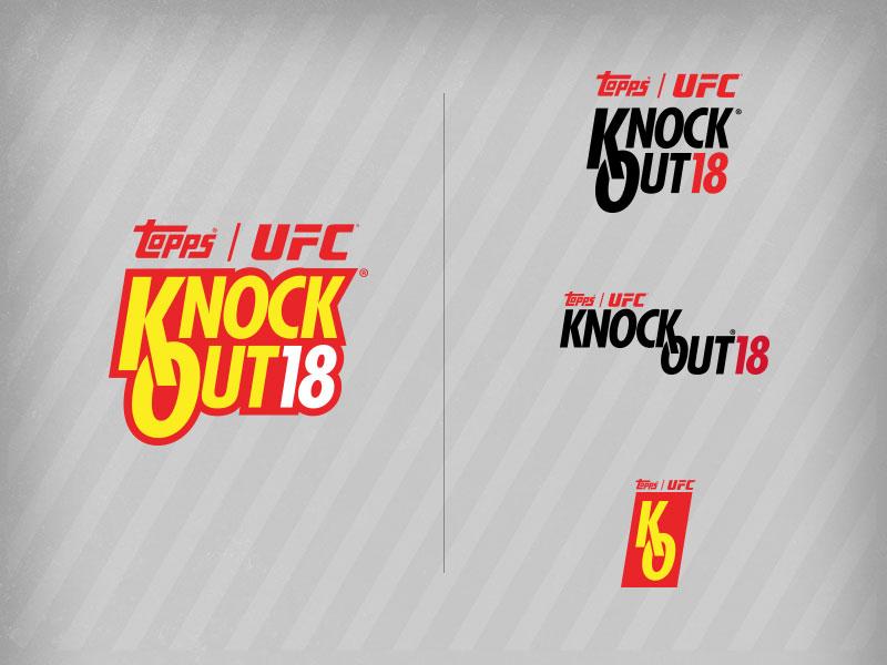 UFC Knockout 18 logo graphic design logo set logo design branding logo design topps ufc