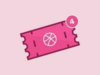 Four Dribbble Invites!