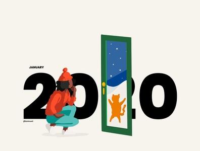 2020 Calendar Pt 1 2020calendar 2020 humor procreate social vector character illustraion calendar design calendar