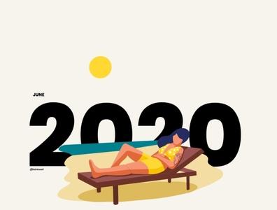 2020 Calendar Part 2 humor social procreate character 2020calendar branding vector illustration