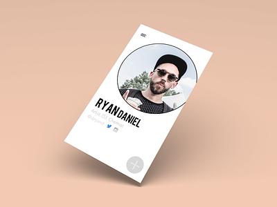 DailyUI - #day06 Profile UI instagram twitter app mobile pink peach profile ui design