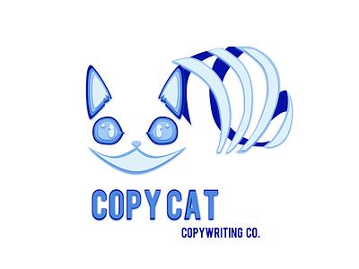LOGO design logo blue cat alice and wonderland