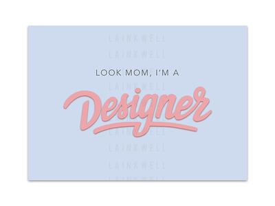 Designer blue purple pink ux design mom