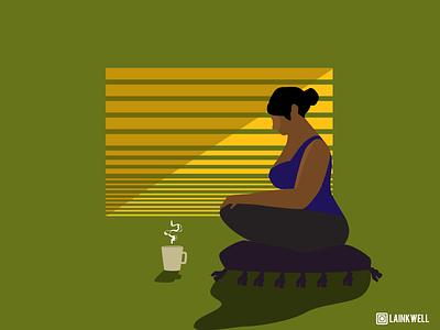 Relax - 1 character illustration 67741a web design design ui dailyui