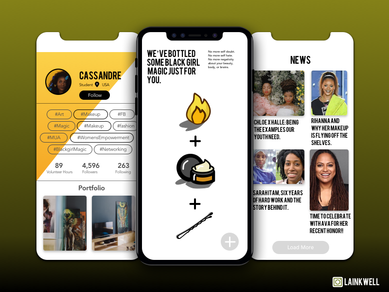 Black Girl Magic App Concept - 2 848118 illustrations iphonex news magic black girl