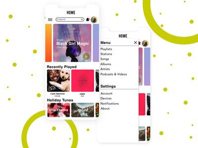 Music App Concept - 7 design dailyui music green