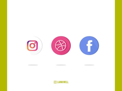 My Social Media weapons of choice dribbble facebook instagram